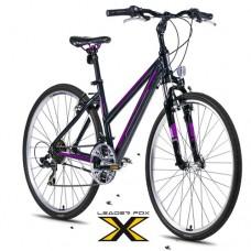 28 Zoll Alu  Away Black Crossbike - 21 Shimano Gänge - Federgabel