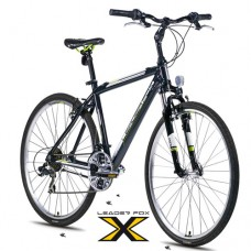 28 Zoll Alu  Away Black Green Crossbike - 21 Shimano Gänge - Federgabel