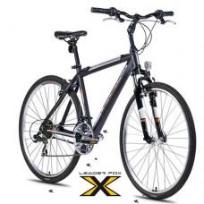 28 Zoll Alu  Away Black Orange Crossbike - 21 Shimano Gänge - Federgabel