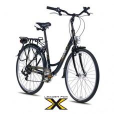 26 Zoll Alu  Domesta Black Citybike - 6 Shimano  Gänge