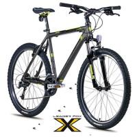 26 Zoll Alu Evolution Grey Mountainbike - 24 Gänge Deore - LockOut Federung