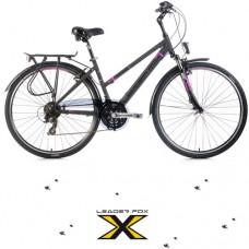 28 Zoll Alu  Ferrara Lady Grey Matt Trekkingbike - 21 Shimano
