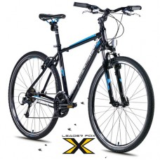 28 Zoll Alu  Toscana Black  Crossbike - 27 Shimano Deore Gänge - LockOut Federung