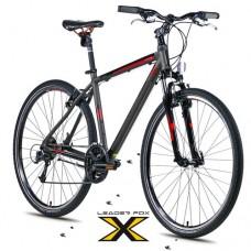 28 Zoll Alu  Toscana Grey Matt Crossbike - 27 Shimano Deore - LockOut Federung