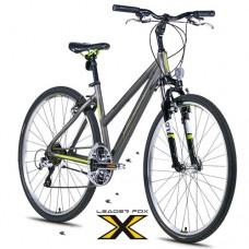 28 Zoll Alu  Viatic Lady Grey Crossbike - 21 Shimano Acera   Gänge - Federgabel - Druckschalthebel