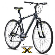 28 Zoll Alu  Viatic Black Green Crossbike - 21 Shimano Acera   Gänge - Federgabel - Druckschalthebel